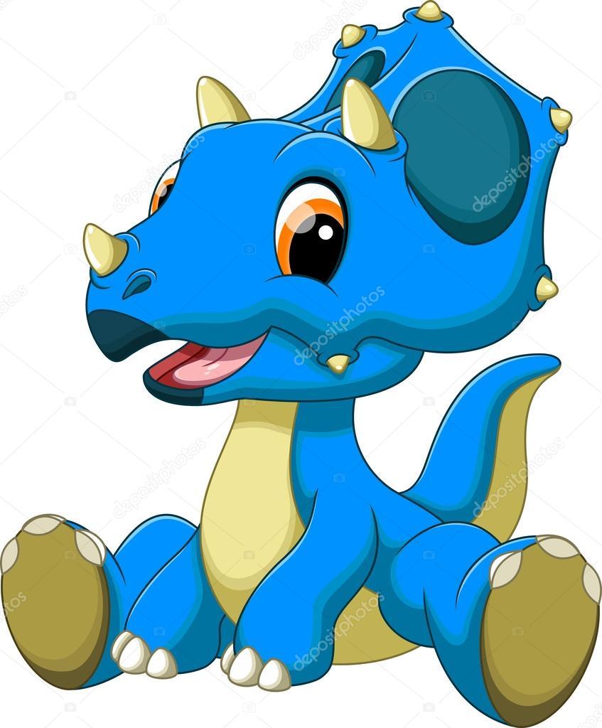 Baby dinosaur cartoon — Stock Vector © irwanjos2 53092117