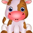 Cute baby cow cartoon — Stock Vector #68521773