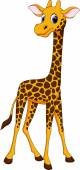 Niedlichen giraffen-cartoon — Stockvektor