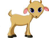 可爱的山羊卡通 — 图库矢量图片