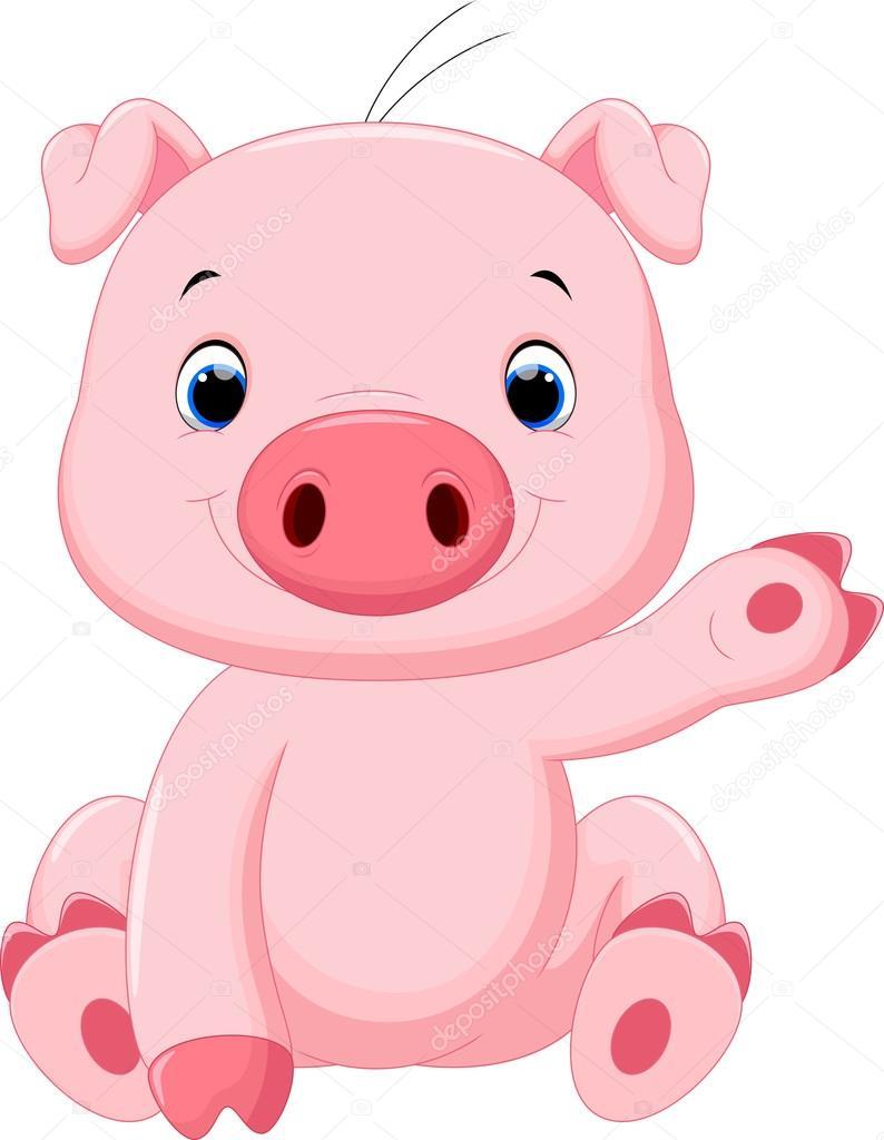Caricatura Lindo Beb 233 Cerdo Vector De Stock 169 Irwanjos2