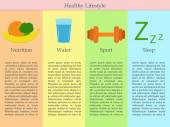 Infographics of healthy lifestyle — Stock Vector
