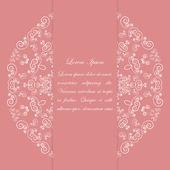 Růžová karta design s ornamentální vzor — Stock vektor