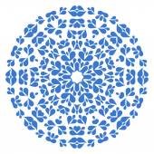 Round blue pattern on white background — Stock Vector