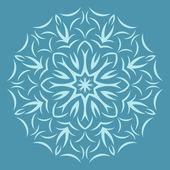 Round  flower pattern on blue background — Stock Vector