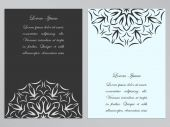 Black and white flyers with ornate flower pattern — Stock Vector