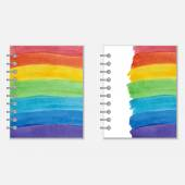Notebook cover design with rainbow — Stock Vector