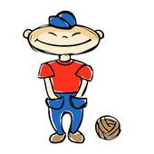 Boy with a ball — Stock Vector