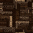 Coffee words, tags. Seamless pattern — Stockvector  #56013171