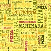 Pizza words, tags. Seamless pattern — Wektor stockowy