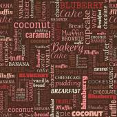Bakery words, tags. Seamless pattern — Wektor stockowy