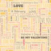 Valentines Day word seamless pattern — Stock Vector