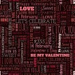 Valentines Day word seamless pattern — Stock Vector #63573935