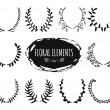 Hand drawn floral doodle design elements — Stock Vector #72059017
