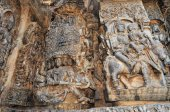 Hoysaleshwara Hindu temple, Halebid, India — Stock Photo