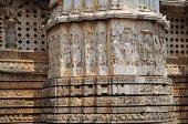 Hoysaleshwara Hindu temple, Halebid, India — Stockfoto
