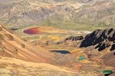 Colorful Lakes in the Bolivian Andes Mountains — Foto Stock