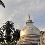 Silver Pagoda and buddha in Sri Lanka — Stock Photo #66205901