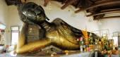 Black reclining Buddha in Bangkok, Thailand — Zdjęcie stockowe