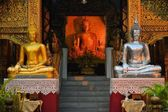 Silver and Golden Buddhas in Chiang Mai, Thailand — Stock Photo