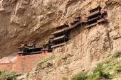 Hanging monastery temple near Datong, China — Stockfoto