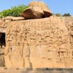 Ancient basreliefs in Mamallapuram, Tamil Nadu, India — Stock Photo #66210573