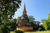 Ancient Pagoda. Wat UMong Chiangmai, Thailand. — Stock Photo