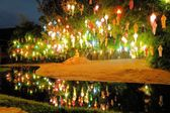 Yee Peng lantern festival in Chiang Mai Thailand — Stock Photo
