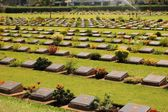 Cemetery of World War 2 casualties, Kanchanaburi, Thailand — Stock Photo