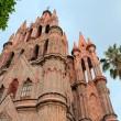 Parroquia Archangel gothic pink church, San Miguel de Allende, Mexico — Stock Photo #66927297