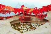 Écluses d'or de Saint Mont Hua Shan, Chine — Photo