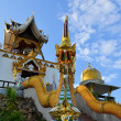 Bell tower in a rural Thai temple, Northern Thailand — Stock Photo #67483653
