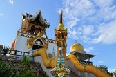 Bell tower in a rural Thai temple, Northern Thailand — Stockfoto