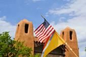 Adobe architecture style house in Sata Fe, New Mexico — Stock Photo
