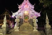 Illuminated Wat Sri Suphan Silver Temple in Chiang Mai, Thailand — Stock Photo