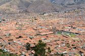 Red roofs of historic center, Cuzco, Peru — Stock Photo