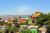 Colorful buildings on the hills of Valparaiso, Chile — Stockfoto