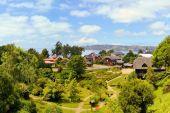 Town settled by German immigrants, Frutillar, Chile. — Foto de Stock