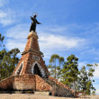 Jesus Christ statue on tower against sky, Sucre, Bolivia — Stock Photo #68605647