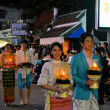Loy Krathong festival parade for Yee Peng, Chiang Mai, Thailand — Stock Photo #68785473