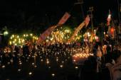 Monks are preparing for Yee Peng Festival of Lights in Chiang Mai, Thailand — Stock Photo