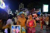 Loy Krathong festival parade for Yee Peng, Chiang Mai, Thailand — Stock Photo