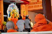 Main ceremony during Durga Puja at Belur Math, Kolkata — Стоковое фото