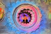Hindu goddess Idol in Pandal, temporary temple for Durga Puja, Kolkata — Stock Photo