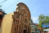 Pandal, temporary temple dedicated to Hindu godess Durga, Kolkata — Stock Photo