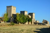 Ampudia Castle. Palencia. Spain. — Foto Stock