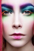 Eye Makeup. Holiday Makeup detail. False Lashes — Stock Photo