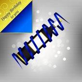Happy birthday, background with bottle of wine — Vector de stock