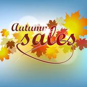 Jesień sprzedaży — Wektor stockowy