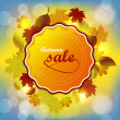 Autumn sale background — Stock Vector #52476165